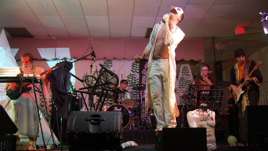 "Planet of Adventure performs at ""Map of Monsters"" at Once, Somerville, Oct. 17, 2014. (@Greg Cook)"