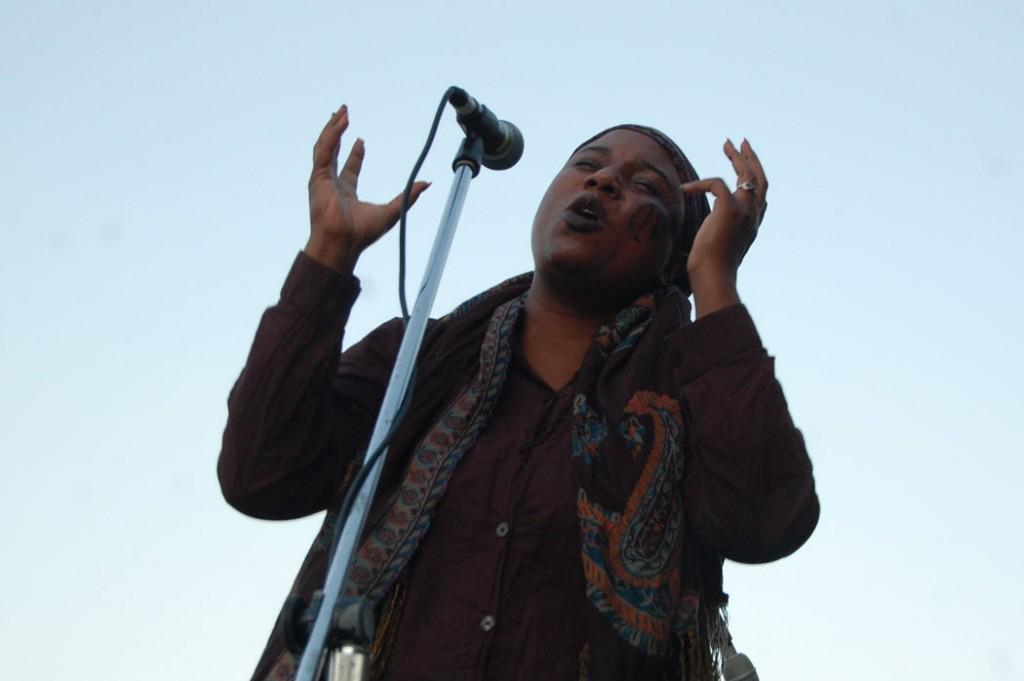 "Crystal ""Navah da Buddaphliii"" Beck of the Society of Urban Poetry recites her work."