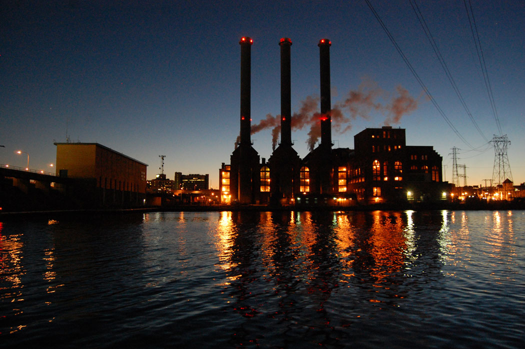 Manchester Street Power Station at Fox Point, Providence, on Oct. 12, 2015. (Greg Cook)