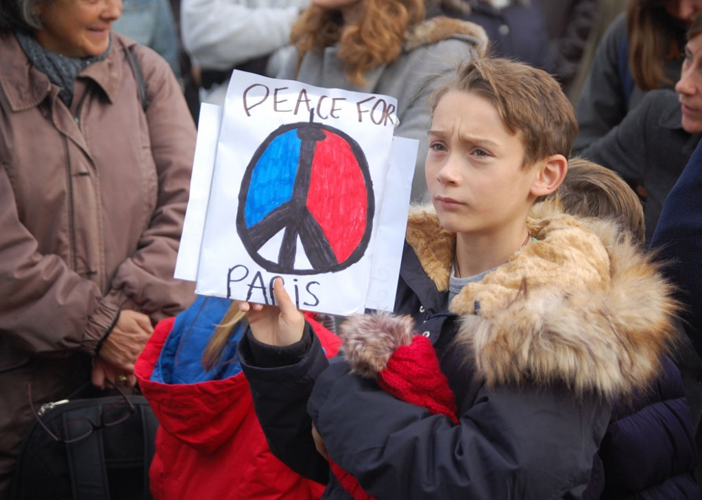 """Peace for Paris."" (Greg Cook)"