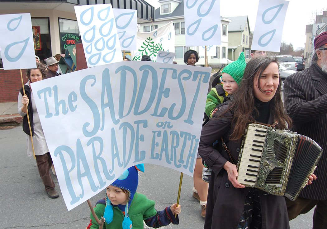 The Saddest Parade on Earth in Beverly, Mass., March 29, 2014. (Greg Cook)
