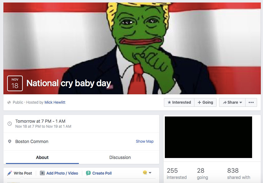 """Hoax Nov. 18 """"National cry baby day"""" announcement. (Greg Cook)"""