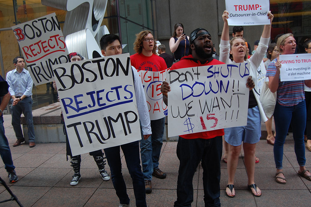 Anti-Trump rally in Boston, June 29, 2016. (Greg Cook)