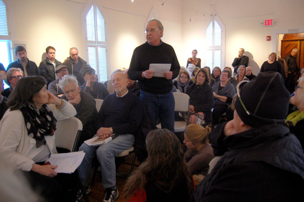 "The ""Writers Resist"" event at the Rocky Neck Cultural Center, Gloucester, Jan. 15, 2017. (Greg Cook)"