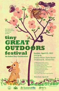 Tiny Great Outdoors Festival poster designed by Kari Percival.