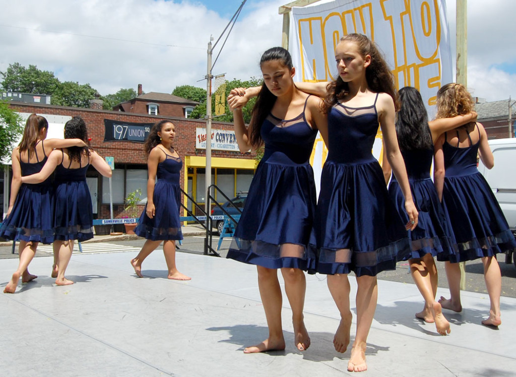 youth from Somerville's Deborah Mason School of Dance perform. (Greg Cook)