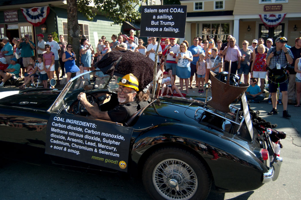 """""""Coal ingredients ... mmm good."""" The 2017 Beverly Farms Horribles Parade (Greg Cook)"""
