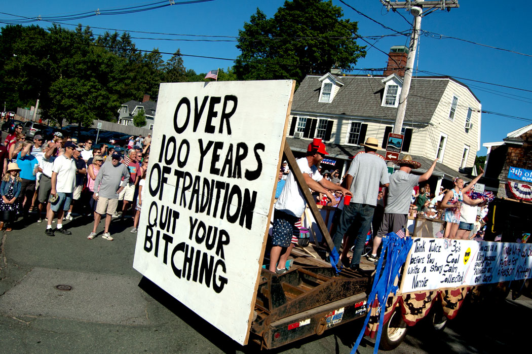 "The 2017 Beverly Farms Horribles Parade: ""Over 100 Years of Tradition / Quit Your Bitching"" (Greg Cook)"