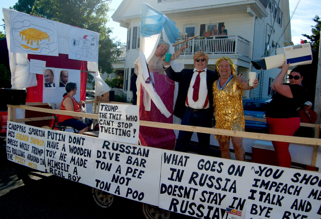 Trump as Putin's puppet in the 2017 Beverly Farms Horribles Parade (Greg Cook)
