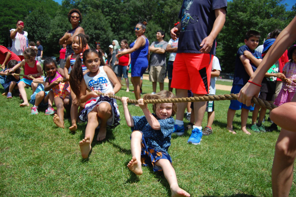 Tug of War at Malden's Ward 5 Independence Day party. (Greg Cook)