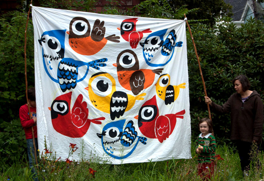 """Birds"" banner by Greg Cook, Aug. 6, 2017."