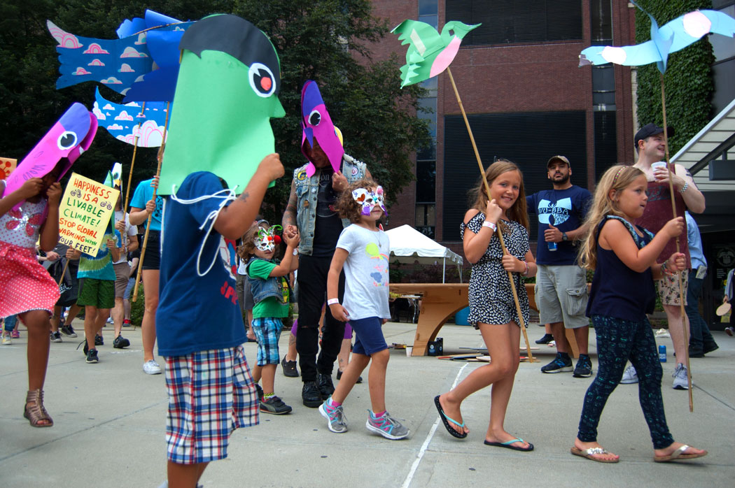 Foo-topia parade led by Kari Percival and Greg Cook. (Greg Cook)