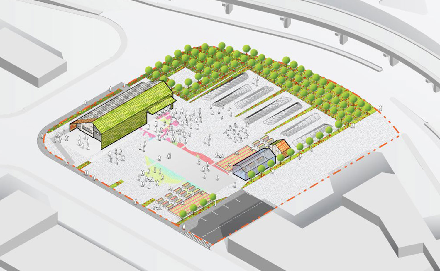 Proposed ArtFarm design. (Courtesy Somerville Arts Council)
