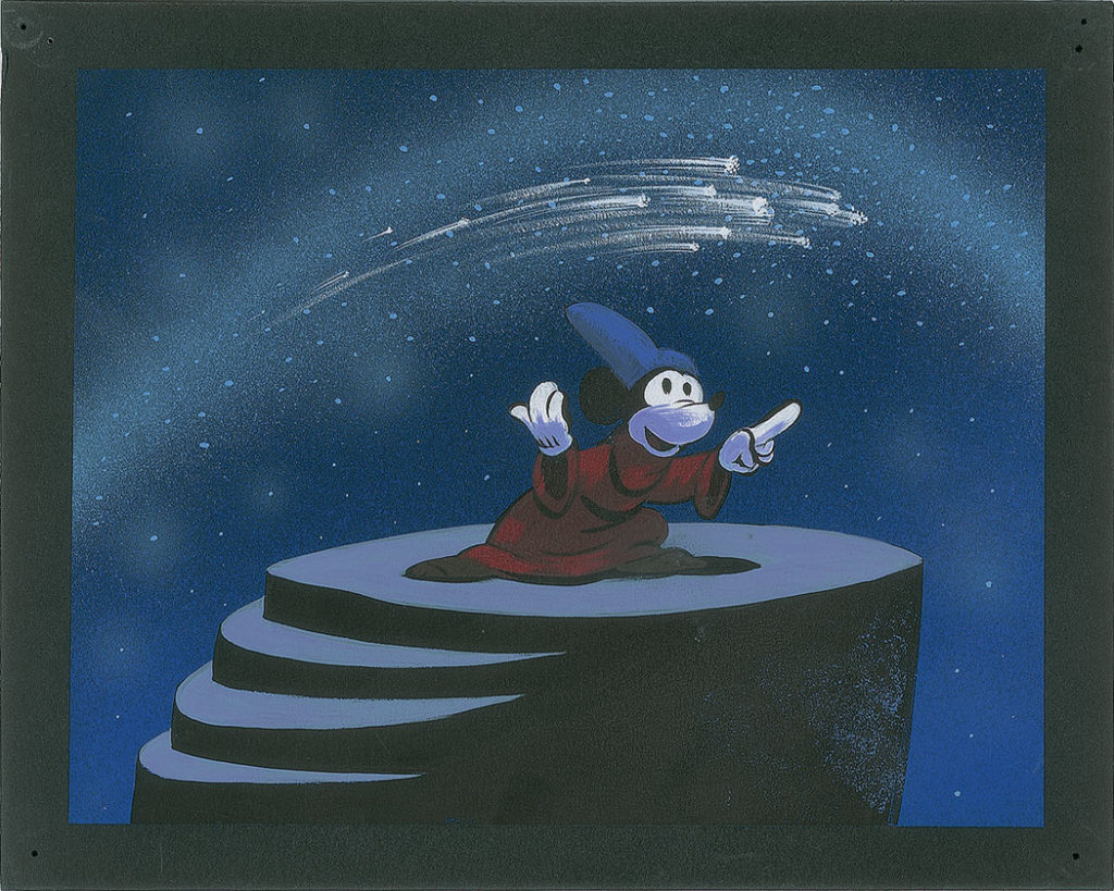 """Mickey Mouse concept painting from """"Fantasia"""" (1940). (Courtesy RR Auction)"""