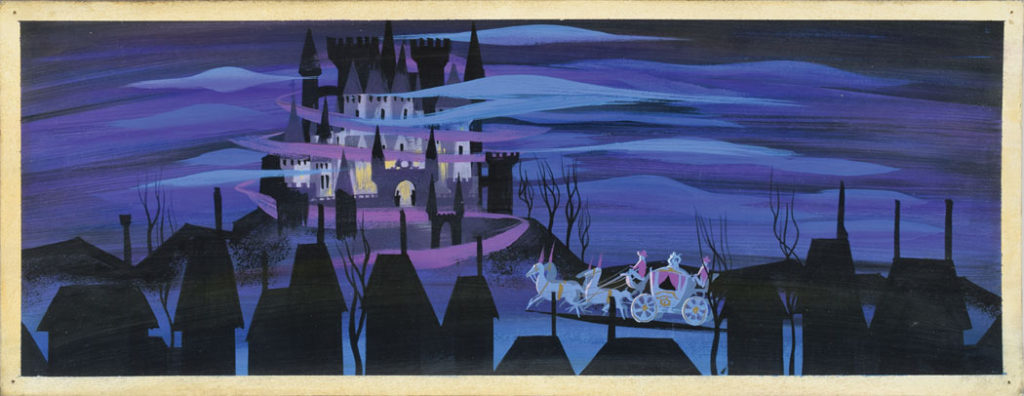 Mary Blair: Cinderella's coach concept painting from Cinderella (1950). (Courtesy RR Auction)