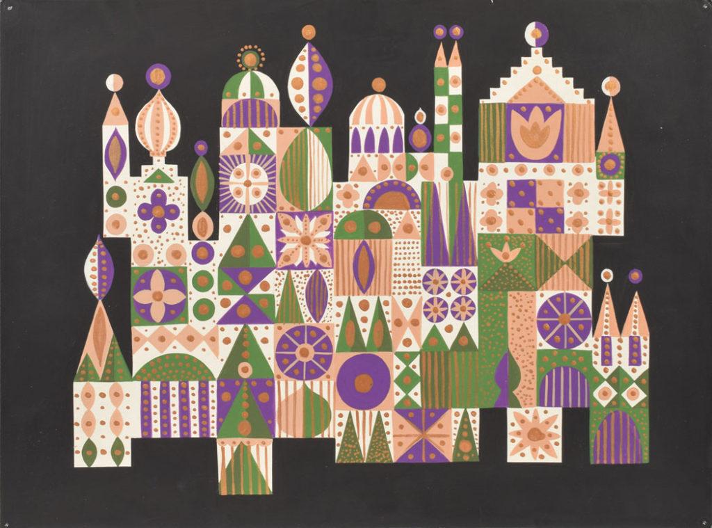 "Mary Blair: ""It's a Small World"" façade concept painting, c. 1963. (Courtesy RR Auction)"
