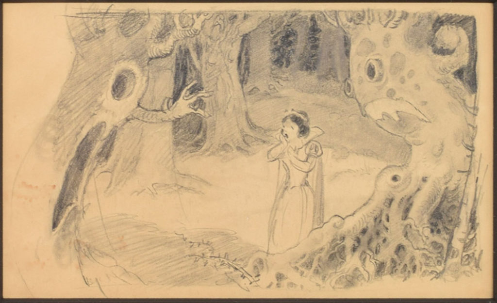 """Attributed to Albert Hurter: Concept drawing from """"Snow White and the Seven Dwarfs"""" (1937). (Courtesy RR Auction)"""