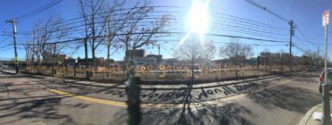 "Matthew Hoffman's ""May This Never End"" reinstalled in Boston's Allston neighborhood. (Courtesy of City of Boston)"