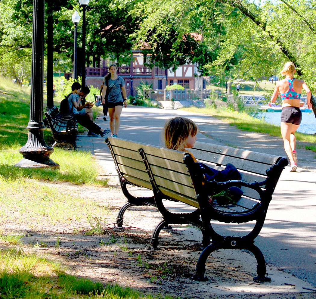 "Matthew Hincman's 2006 ""Jamaica Pond Bench."" (Greg Cook)"
