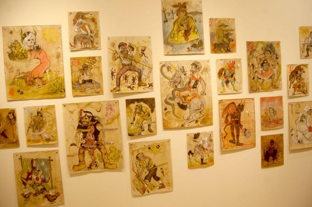 """Raul Gonzalez's drawings from """"Los Nuevos Guerreros."""" (Greg Cook)"""