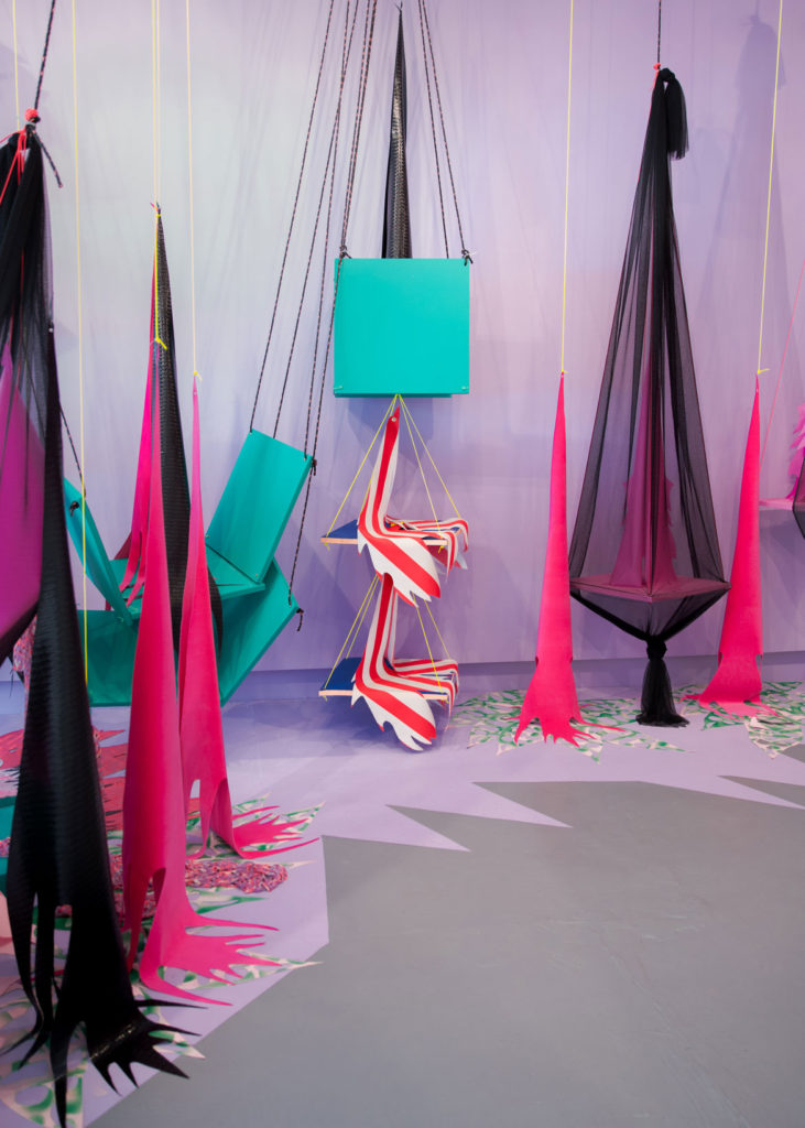"Liz Miller's ""Mendacious Veracity"" at Portland's Space Gallery, 2017. (Joel Tsul)"