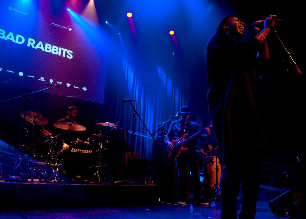 Bad Rabbits perform at the 2017 Boston Music Awards. (Greg Cook)