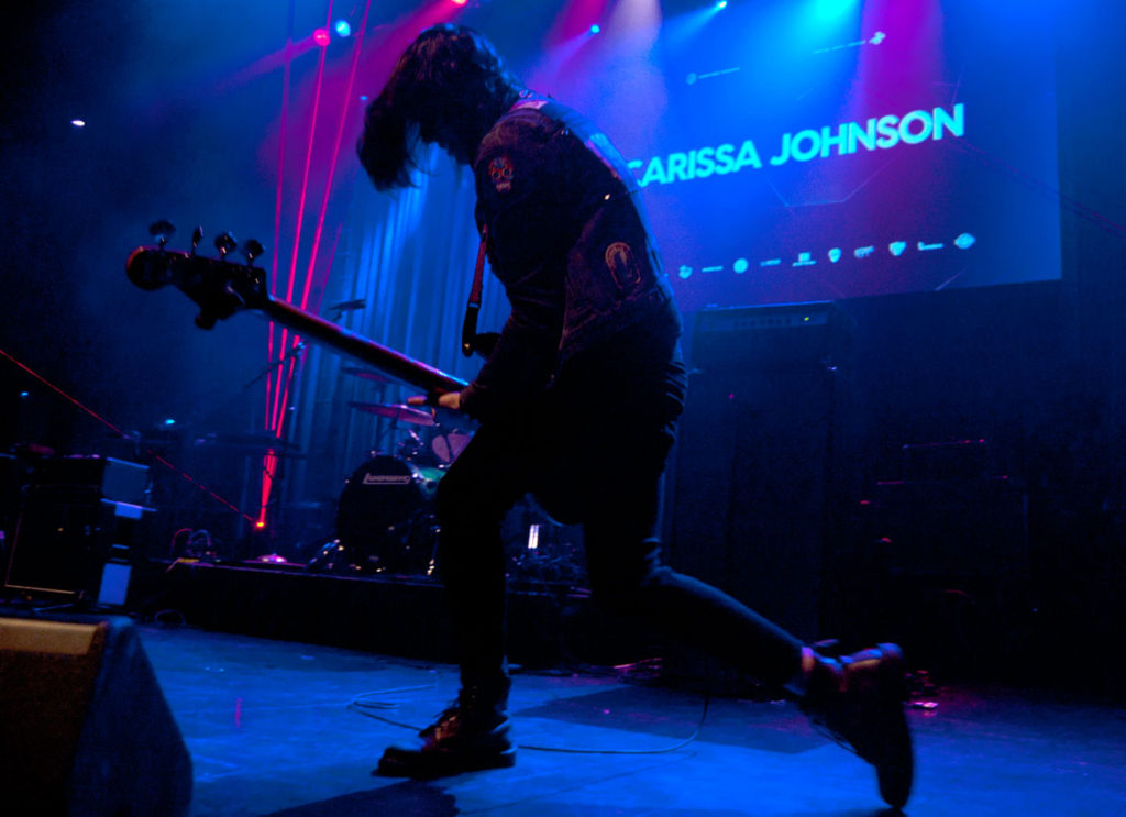 Carissa Johnson plays at the 2017 Boston Music Awards. (Greg Cook)
