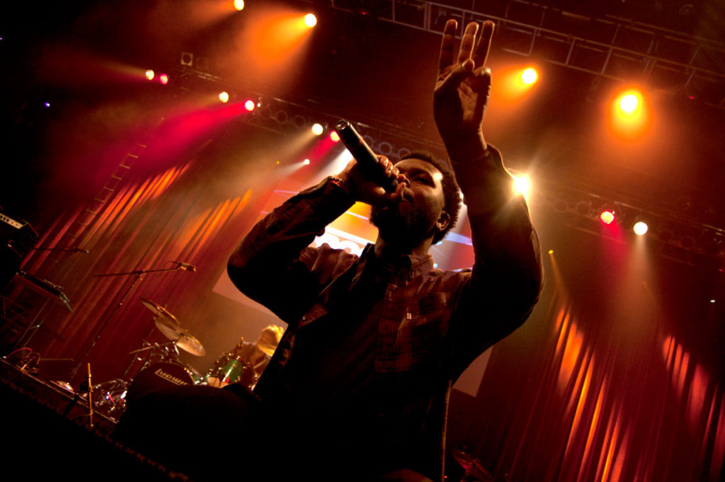 Latrell James performs at the 2017 Boston Music Awards. (Greg Cook)
