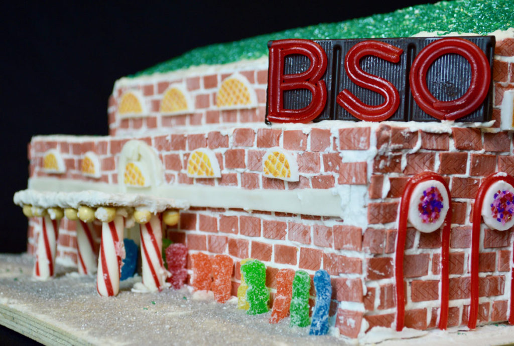 """The Boston Symphony Orchestra is turned into the """"Boston Sweet Symphony"""" Acentech. (Courtesy BSA Space)"""