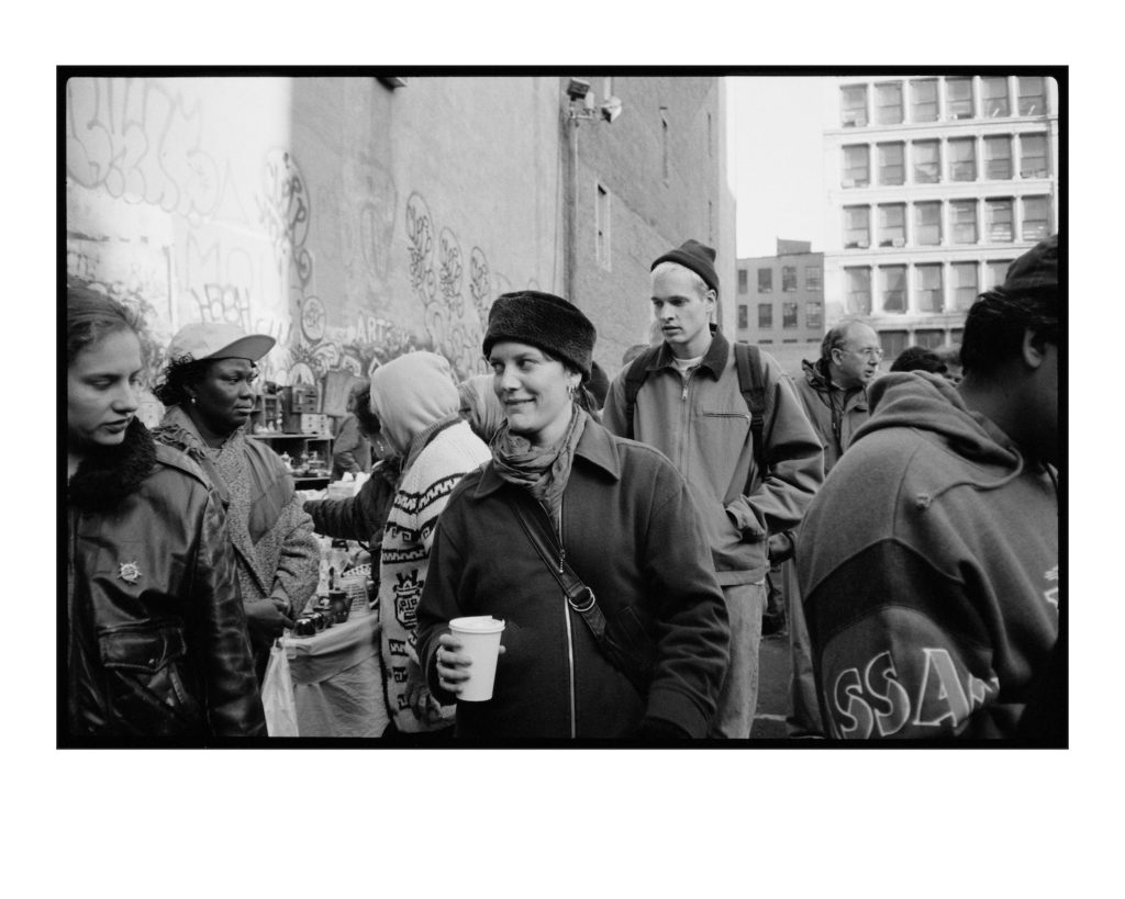 """JJ Gonson's photo of used for the cover of Elliott Smith's 1994 album """"Roman Candle."""" It shows a New York Street market. """"It's not him or me. I still don't like it. I don't get it at all. I still don't understand why he chose that photo."""""""
