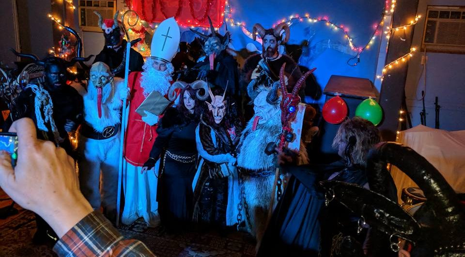 The Krampus Society of New England's Krampus Ball in Providence, Dec. 16, 2017. (Thomas Dragone)