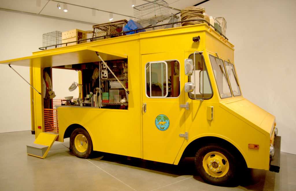 "Mark Dion's ""South Florida Wildlife Rescue Unit: Mobile Laboratory,"" 2006. (Greg Cook)"