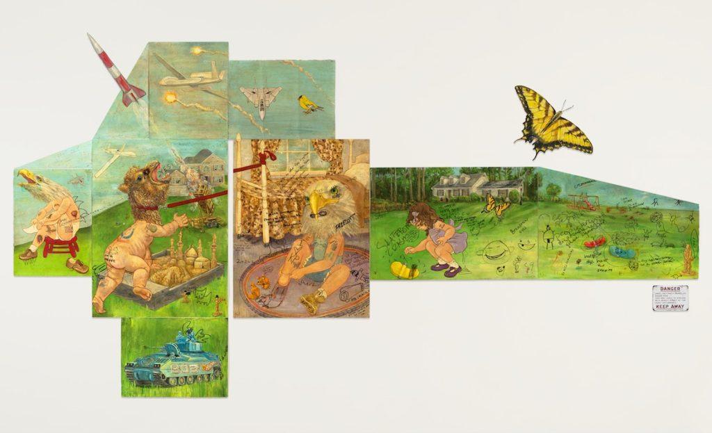 "Edward Monovich's ""Graffiti Collaborations: Global Hawk."" (Courtesy)"