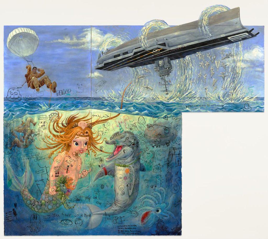 """Edward Monovich's """"Graffiti Collaborations: Spellbound."""" (Courtesy)"""
