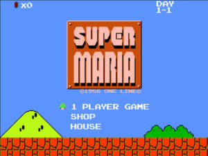 "Anthony Montuori's 2015 game ""Super Maria."" (Courtesy)"
