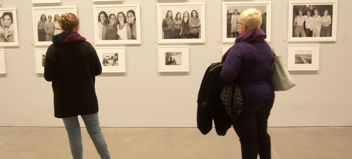 Nicholas Nixon exhibit at Boston's Institute of Contemporary Art, Dec. 20, 2017. (Greg Cook)