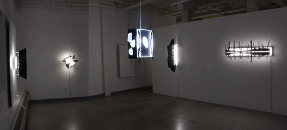 "Paul Myoda's exhibition ""41°52'40.0""N 71°44'37.0""W"" at Yellow Peril Gallery, Providence. (Courtesy)"