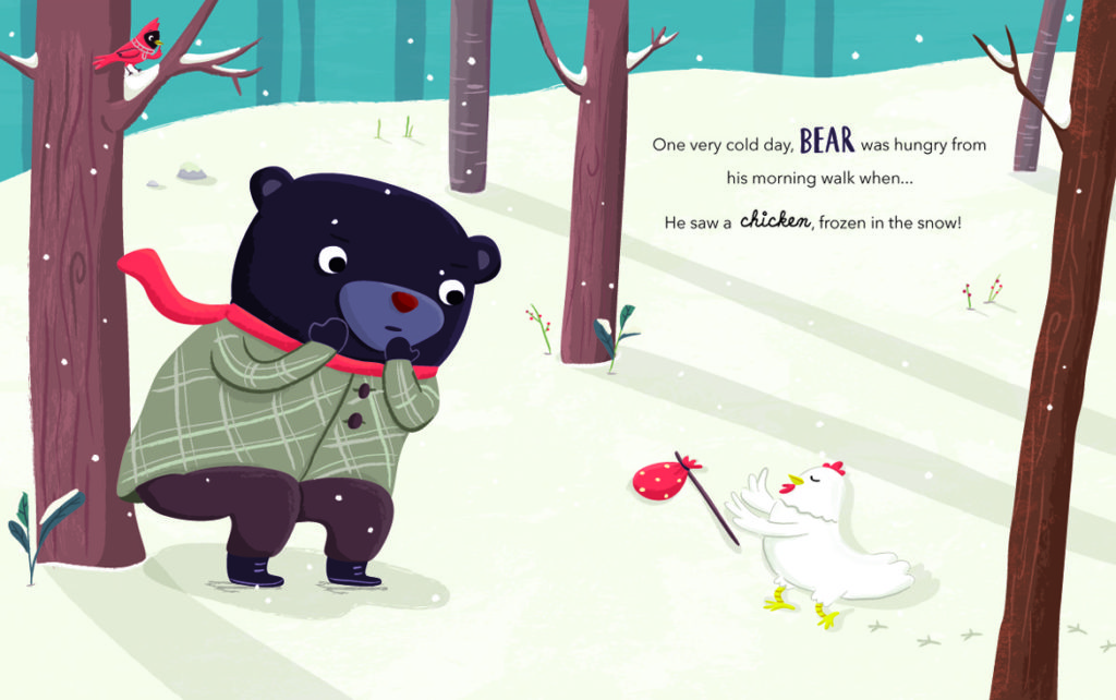"""Jannie Ho's final page artwork from """"Bear and Chicken."""" (Courtesy of the artist)"""