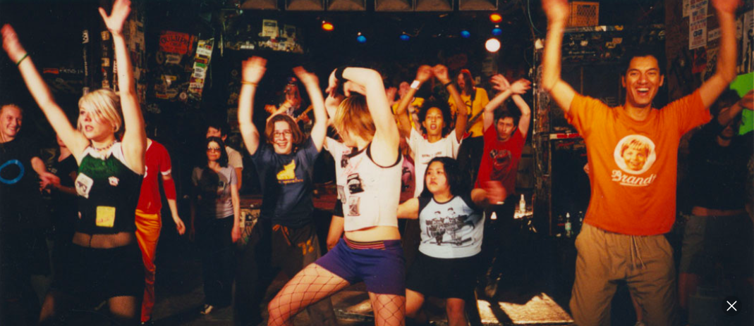 A Punk Rock Aerobics class at CBGB in New York, March 2002. (Courtesy)