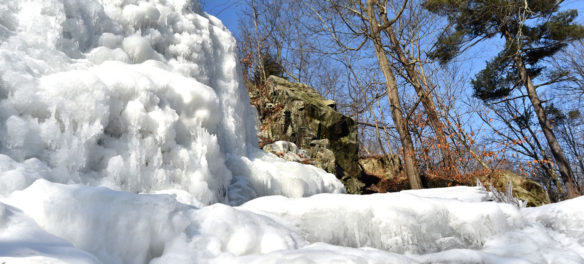 The Cascade in the Middlesex Fells, Melrose, Jan. 21, 2018. (Greg Cook)