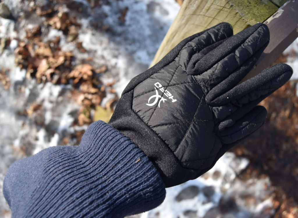 Lost glove seen along Cascade Trail in Middlesex Fells, Melrose, Jan. 21, 2018. (Greg Cook)