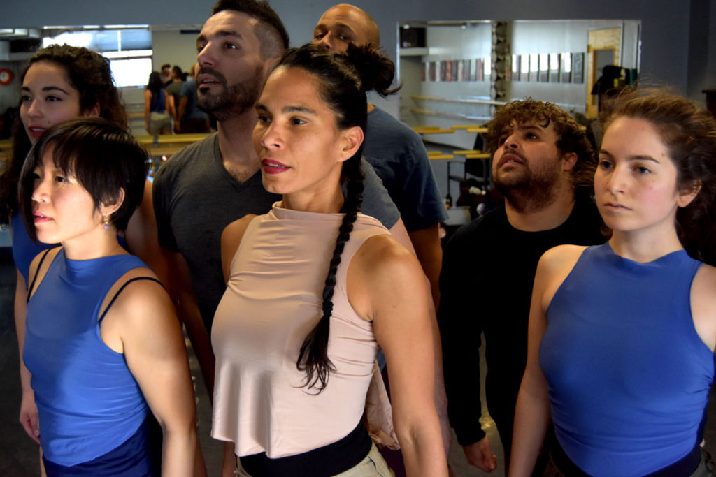 "Danza Organica rehearses ""Melaza,"" Jan.. 10, 2018. (Greg Cook)"