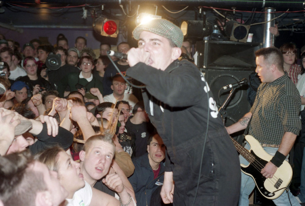 """Jay Hale's photo of Mike McColgan and Ken Casey of Dropkick Murphys during the """"Do or Die"""" record release show, Feb. 8, 1998. (Courtesy)"""