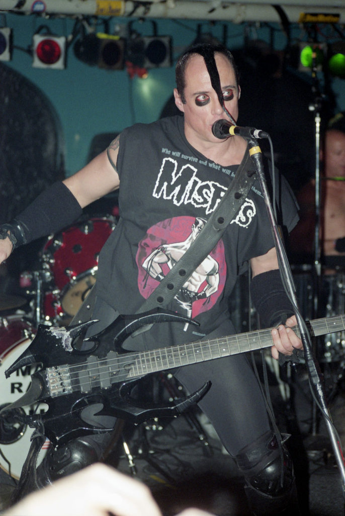 Jay Hale's photo of Jerry Only of The Misfits, Oct. 24, 2001. (Courtesy)