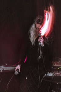 Rectrix performs in a Boston Hassle show at Dorchester Art Project, Dec. 17, 2017 (Omari Spears)