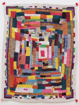 "Shanta Mingel, ""Kawandi (Quilt),"" 2005, cotton and synthetic textiles. (Courtesy)"