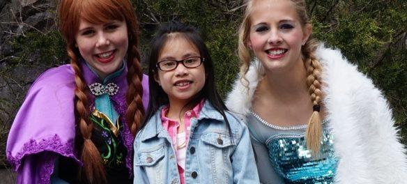 Winter Princesses visit Franklin Park Zoo, Boston. (Courtesy)