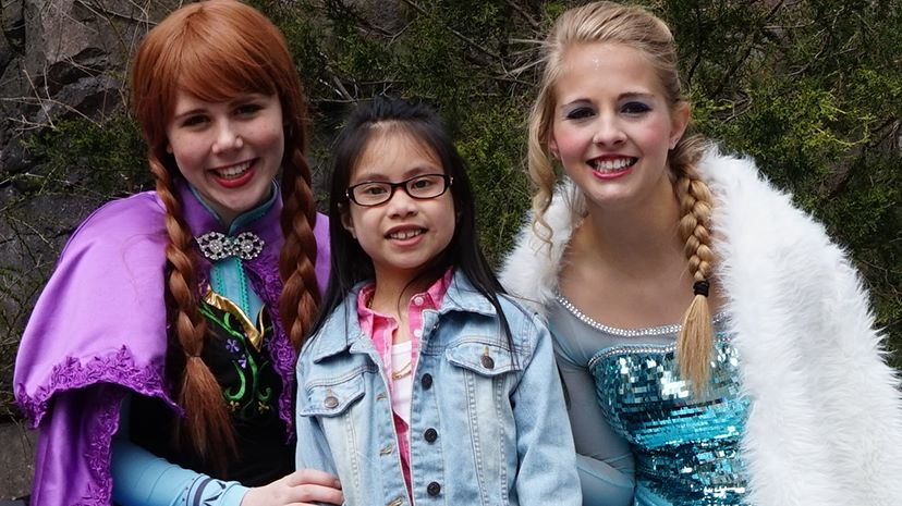 Winter Princesses visit Franklin Park Zoo, Boston. (Courtesy)