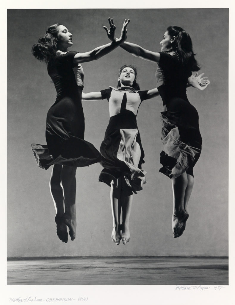 "Barbara Morgan ""Martha Graham-Celebration (Trio),"" 1937, gelatin silver print. (Courtesy Williams College Museum of Art)"