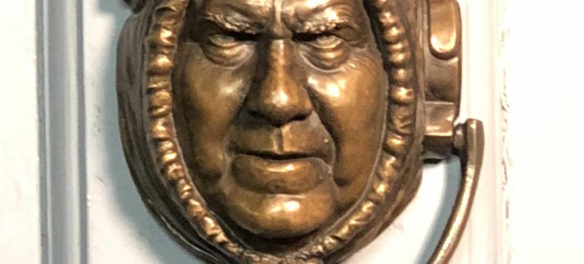 Palmer Murphy's Bill Belichick door knocker. (Courtesy of the artist)